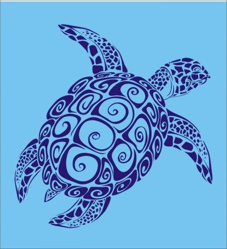 Stencil, honu sea turtle image is 10 x 9.75 inches hawaii beach ocean