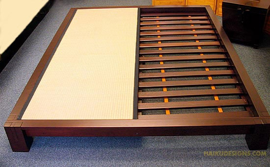 made from solid wood and natural based stains our raku tatami platform bed from haiku designs is an all natural product made in harmony with the e
