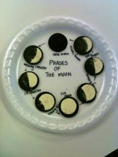 Teach the phases of the moon with Oreos...educational and delicious :)