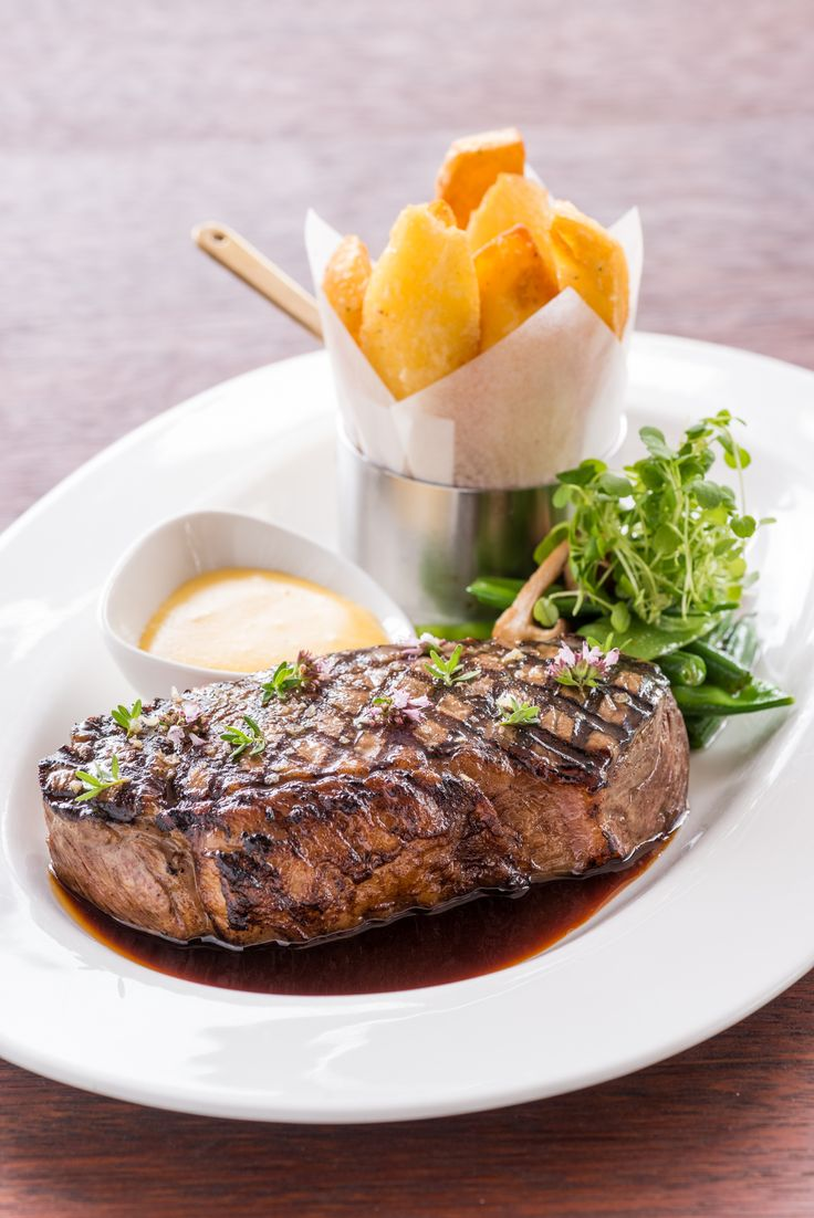 Steak and chips from 50 Bistro at The George
