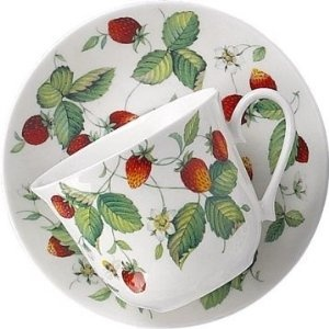 I found it! And it has a saucer to match! Roy Kirkham Alpine Strawberry cup & saucer