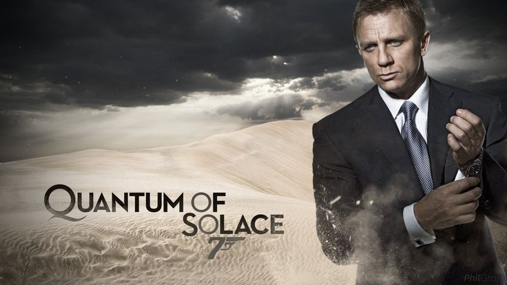 """007 #23 2008 Quantum of Solace poster (by GuardofAzkaban @deviantART 244334487) • Bond: Daniel Craig (UK) at 40 (2nd, 6th to act as JB) (he came to Bond from 2005 Munich + 2004 Layer Cake despite controversy as most unlikely """"James Bland"""" but support by all JB actors) • BondGirl: Olga Kurylenko at 29 (Ukraine, model) as Camille •Evil: Mathieu Amalric (French) & Giancarlo Giannini (Italy) as Rene Mathis • theme song """"Another Way to Die"""" by Alicia Keys & Jack White"""