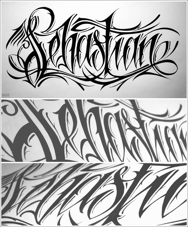 Tattoo Word Generator: Sebastian [tattoo Sketch] By 86era , Via Behance