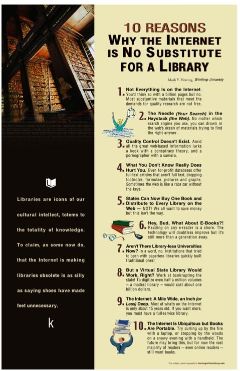 10 Reasons Why The Internet Is No Substitute For A Library