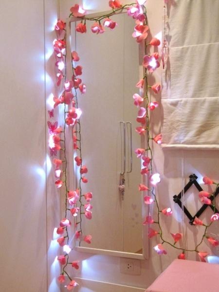 Luzes com flores