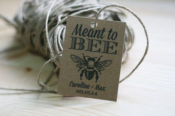 Mariage miel Favor étiquette imprimable / censé être / bricolage, papier kraft, rustique, abeille, miel, élégant, faveurs, les cadeaux, les cartes de réception de mariage