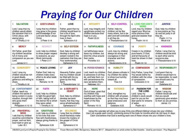 So important to pray over your children daily!  You can even keep a prayer journal of prayers that you prayed for your child.  Then show them when they are grown what you prayed for and that God answered those prayers.