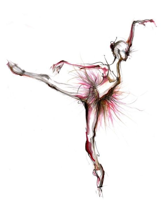 The ballerina drawing by BalletArt on Etsy