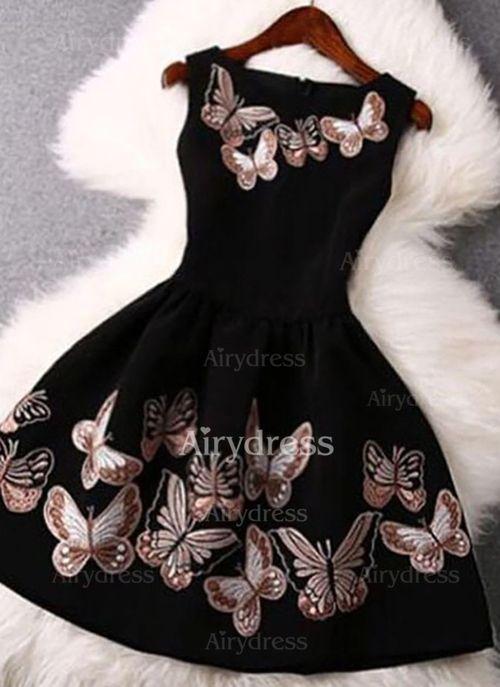 Airydress - Vestidos Poliéster Floral Sobre las rodillas Sin mangas (1042416)