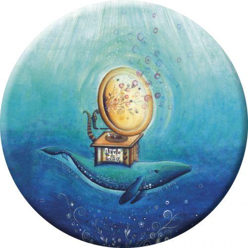 """Jehanne Weyman magnet (75mm) """"Love song"""""""