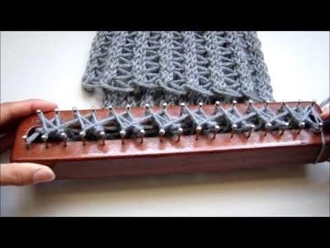 Punto Calado en Telar Maya/ Fretwork Stitch on Loom - YouTube