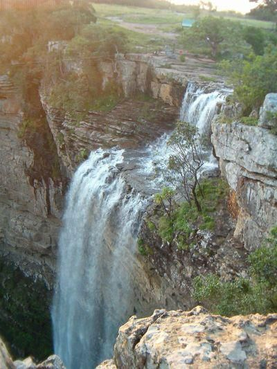 Beautiful and peaceful waterfall at Port Shepstone, South Africa