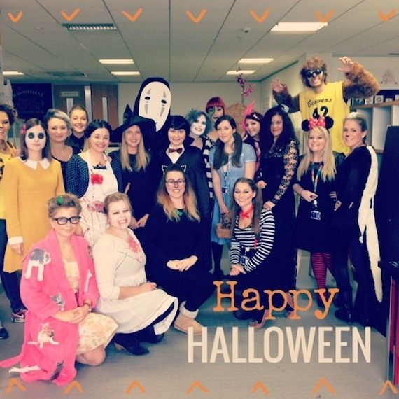 We thought'd you like to see what the team got up to today for Halloween, there are a few scary faces!
