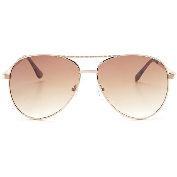 Steve Madden Women's Aviator Sunglasses ($25) ❤ liked on Polyvore featuring accessories, eyewear, sunglasses, glasses, gradient tint sunglasses, aviator sunglasses, steve madden, tinted sunglasses and tinted glasses