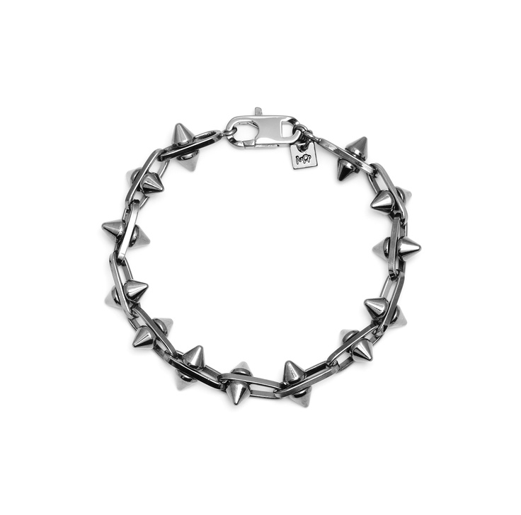 Maria Francesca Pepe  MAN/01 Chain bracelet with moving studs Shop now> https://www.mariafrancescapepe.com/showplarge.aspx?prodid=332&catid=47&utm_source=Social&utm_medium=Pinterest&utm_campaign=Bracelet_man