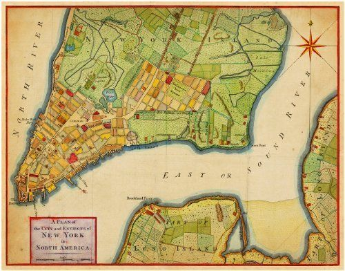 New York City Plan Revolutionary Era Map