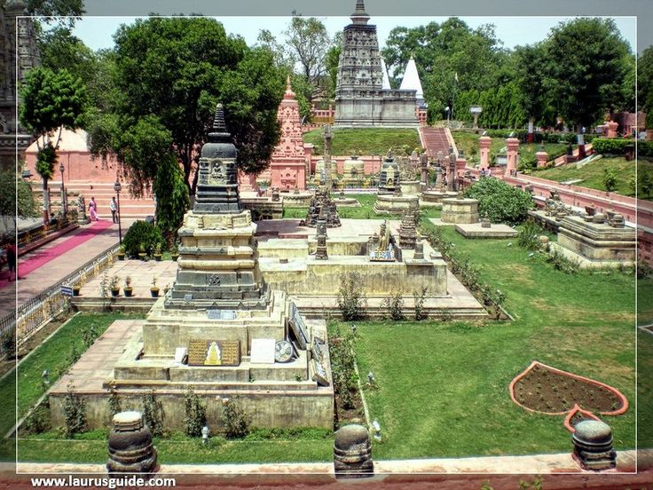 """The Mahabodhi Vihar (Literally: """"Great Awakening Temple""""), a UNESCO World Heritage site, is a Buddhist temple in Bodh Gaya, marking the site where the Buddha had attained enlightenment in Bodh Gaya (located in. Gaya district) is located about 96 km (60 mi) from Patna, Bihar, India. The entire Mahabodhi Temple was the first temple built by Emperor Asoka in the 3rd century BC, and the present temple dates from the 5th-6th centuries."""