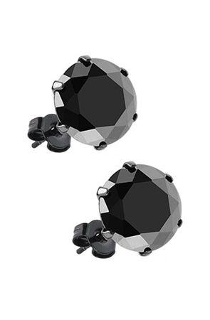 Monsieur THE BLACK STUD EARRINGS : Karmaloop.com - Global Concrete Culture