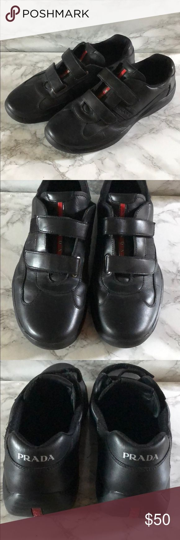 Prada Sneakers for Men Prada sneakers that were only worn once.  Made in Vietnam.  Gift from a friend so I'm not sure where it was purchased. Prada Shoes Sneakers