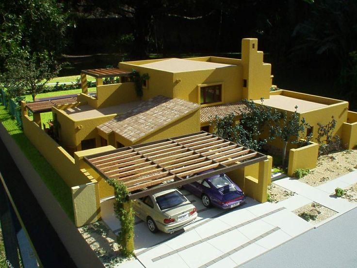 Maqueta casa en Hacienda Chicureo - Chile . Escala1:50