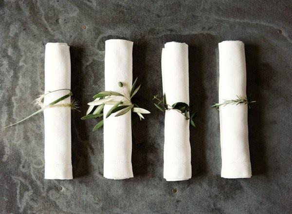 herb napkin ring mediterranean