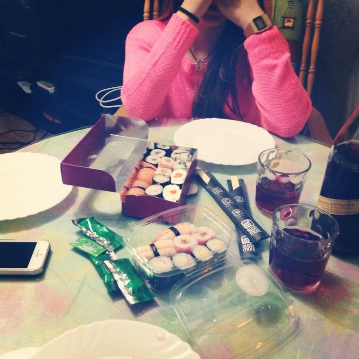 Al rico sushi more con @Jose Ignacio Alegria