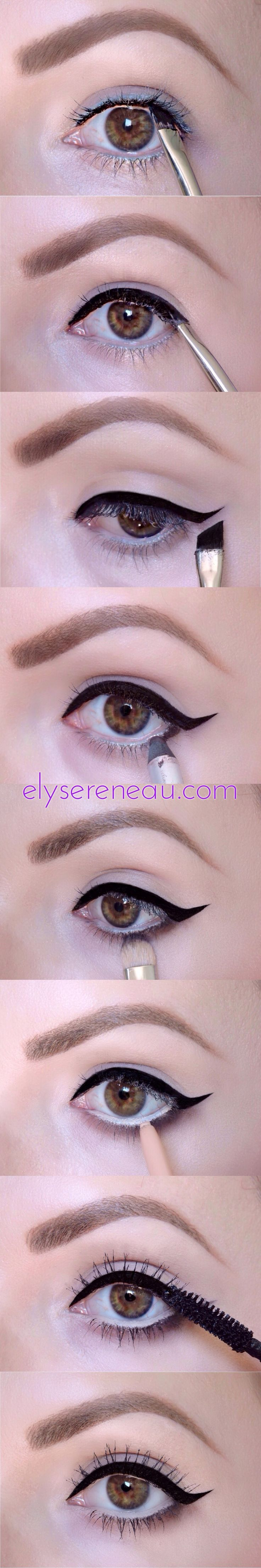 Simple retro eyeliner tutorial: winged eyeliner