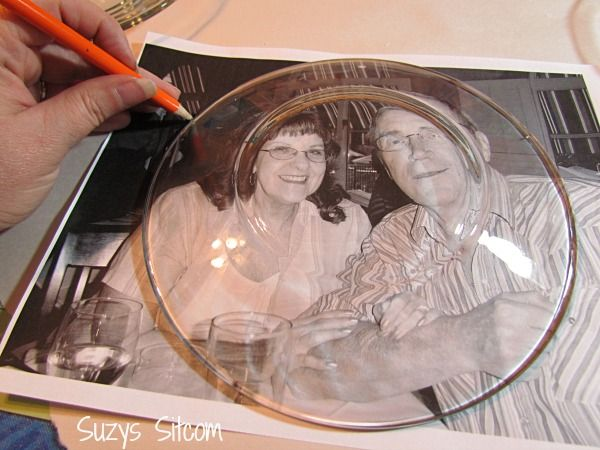 DIY photo plates made with printouts and Mod Podge! Easy tutorial!