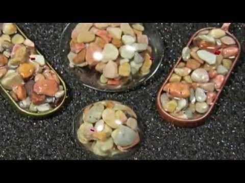 прозрачная эпоксидная смола и камни - YouTube