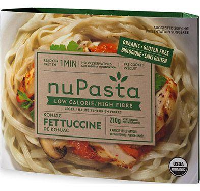 NuPasta, les pâtes faibles en calories   Substitut de pâtes alimentaires biologique, sans gluten, faible en glucides et à haute teneur en fibres