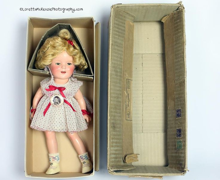 Shirley Temple dolls  A mint 13 in  her original box with her mailer!