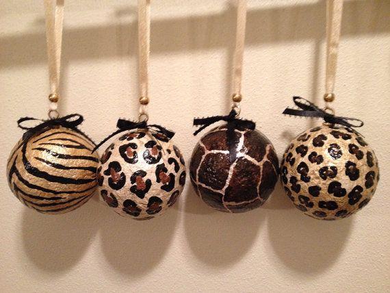 Leopard Decorative Balls Glamorous 57 Best Leopard Christmas Ball Images On Pinterest  Christmas 2018