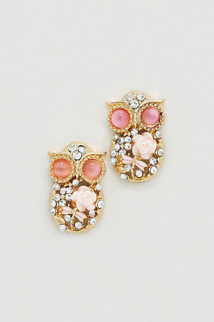 I know you will think I am crazy, but I love these little owls!!! Cameo Owl Earrings in Aspen