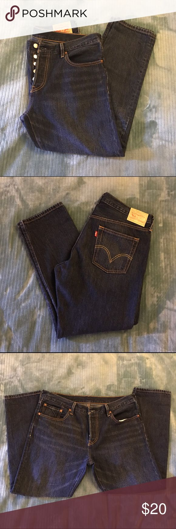 Levis 501 Blue Jeans 💙 Brand new pair of Levis, Never worn! Super cute classic style with a modern tapered twist.   ✅ new without tags ✅ great condition ✅ bundles are okay ✅ offers welcomed  🚫 no trades 🚫 no paypal   ❤️ feel free to ask questions!   please note: actual item may look slightly different due to the styling and lighting used in the photos. ALL SALES ARE FINAL.   Happy poshing! 💋 Levi's Jeans