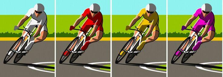 Ciclistas, cyclists, cyclistes, dibujo, drawing, dessin