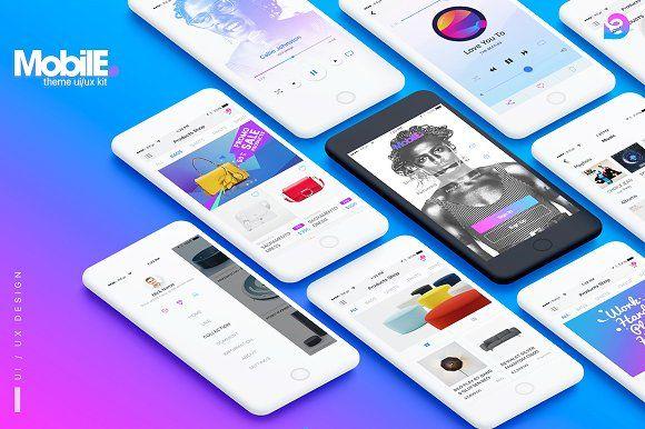 Mobile Theme UI/UX Kit by Mobile Theme UI/UX Kit on @creativemarket