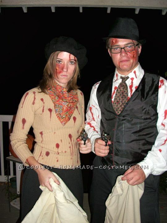 Coolest Zombie Bonnie and Clyde Couple Costume. Think I found our Halloween costume!