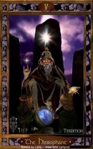 Hierofante - Portal da Espiritualidade The Hierophant from the Timeless Truth tarot