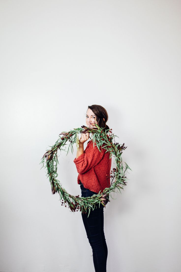 Eucalyptus Christmas Wreath DIY — Treasures & Travels