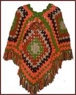 De Poncho - nu weer trendy maar begint jaren 70 ook, mijn moeder haakte ze.