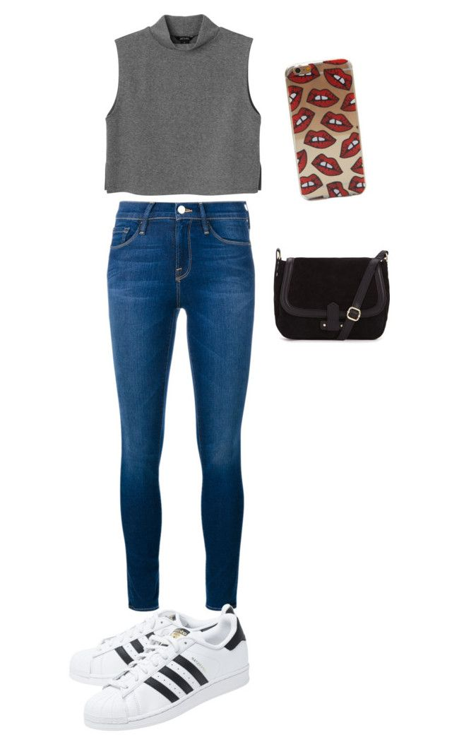 """Things"" by valth on Polyvore featuring Frame Denim, adidas Originals, Monki, women's clothing, women's fashion, women, female, woman, misses and juniors"