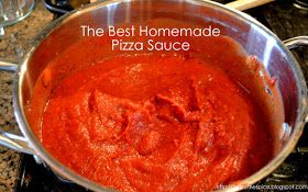Becca here with a really yummy pizza sauce recipe.  I have tried lots (LOTS) of different pizza sauce recipes and combinations over the ye...