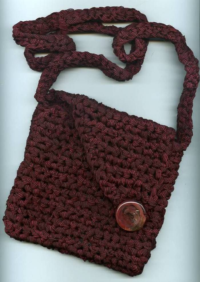 Free Crochet Pattern For Small Tote Bag : 17 Best images about Crochet Little Girl Bags on Pinterest ...