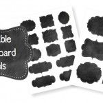 Free Printable Chalkboard Labels || Type your own words on each label