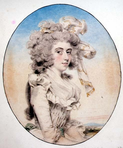 Miss Elizabeth Munro,1789. Downman