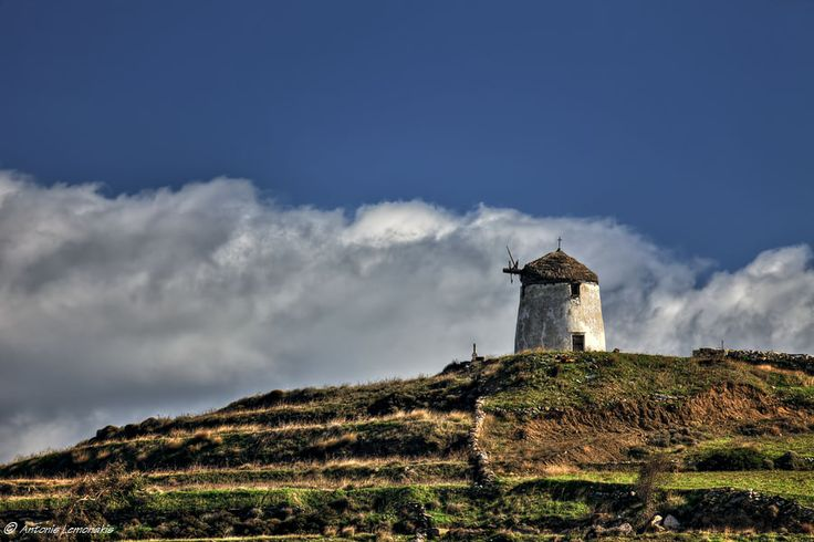 """""""Loneliness""""  Old windmill in Paros"""
