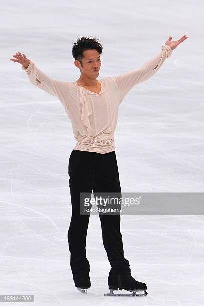 Daisuke Takahashi of Japan performs during the Japan Open 2013 Figure Skating at Saitama Super Arena on October 5 2013 in Saitama Japan