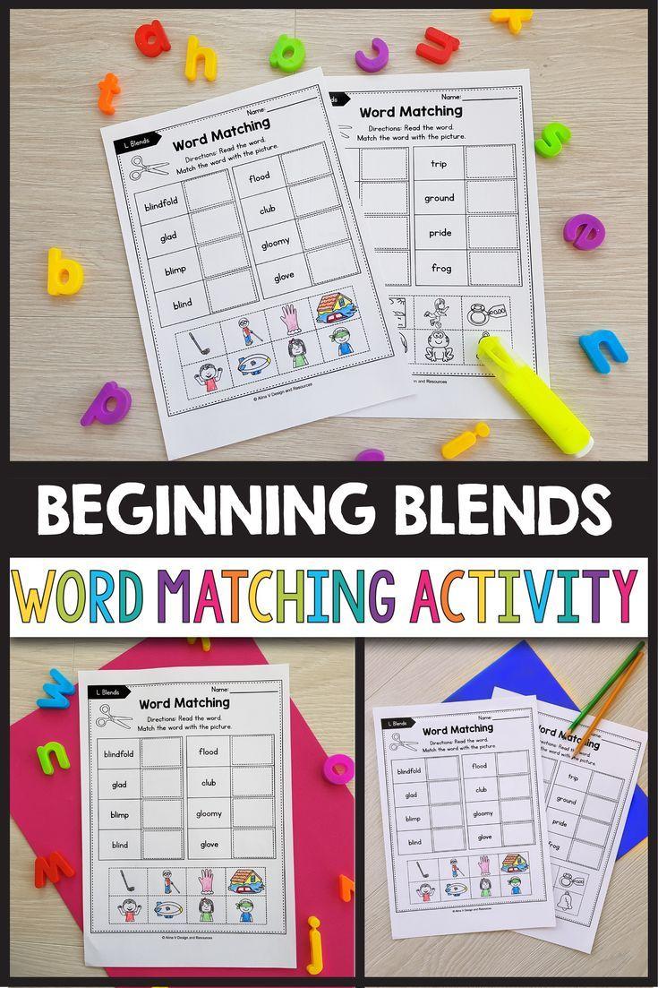 L Blends Worksheets R Blends Activities Word Matching Blends Activities Teaching Fun Kindergarten Resources [ 1103 x 735 Pixel ]
