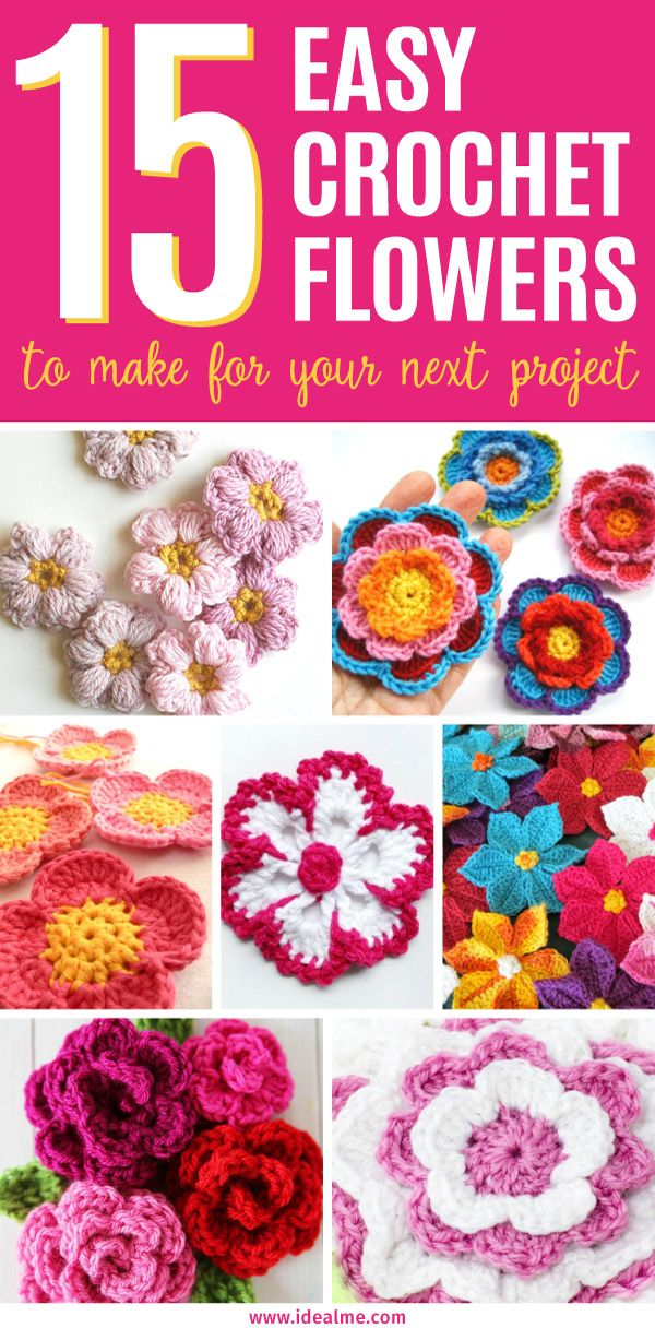 Check out these 15 easy crochet flowers we've rounded up - these sweet little blooms are the perfect way to use up scraps of yarn or try out new yarns.