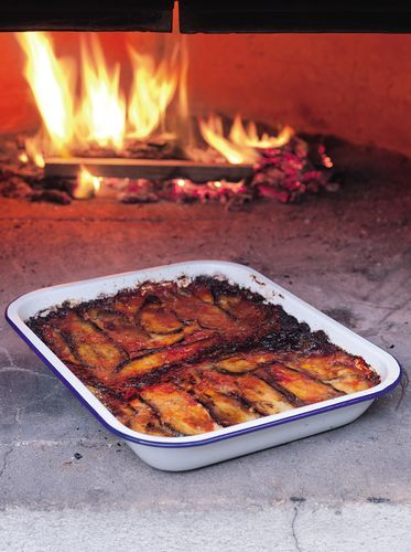 Like a lasagne, but made with aubergine, this Aubergine and Mozzarella Bake (Melanzane Alla Parmigiana) can be found across Italy. The recipe, from Simply Italian: Cooking at Home with the Chiappa Sisters can be served hot or cold, and also as a starter or a side dish.